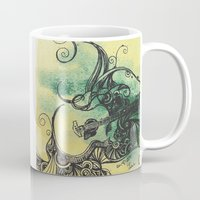 guitar Mugs featuring guitar by Joanne Chen