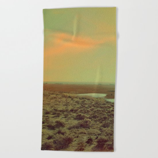 Lonely Landscape Beach Towel