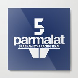 Brabham F1 Racing Team BT49 Metal Print