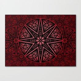 rashim red star mandala Canvas Print