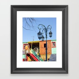 Street Lights of La Boca III Framed Art Print