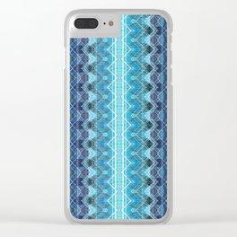 Aqueous Geometry Clear iPhone Case