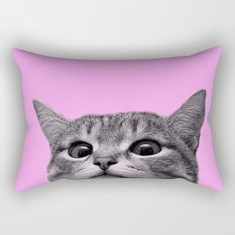 Curious Cat Rectangular Pillow