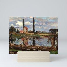 """Camille Pissarro """"Au bord de la Seine à Port Marly"""" (1871) Mini Art Print"""