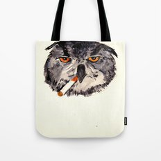 art student owl watercolour Tote Bag