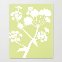 Ferula in Meadow Green - Original Floral Botanical Papercut Design Canvas Print