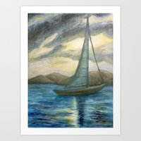 Caribbean Sailboat Art Print