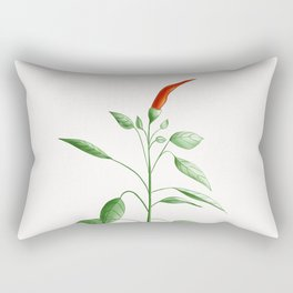 Little Hot Chili Pepper Plant Rectangular Pillow