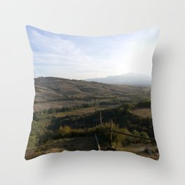 As the Valley Sighs Throw Pillow