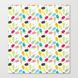 Popsicle Pattern Canvas Print