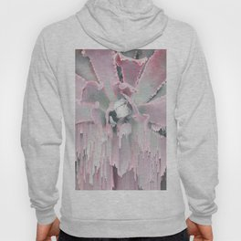 Sweet Pink Succulent Glitches Hoody