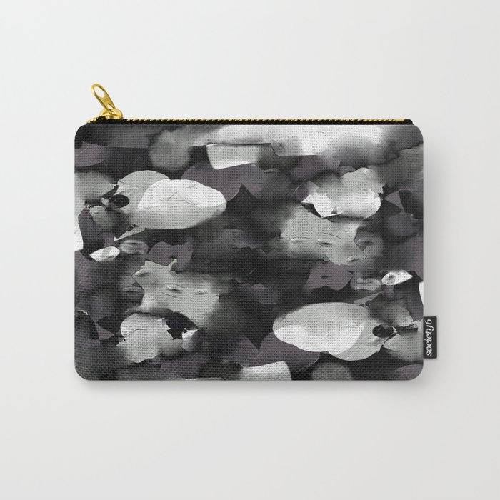 Raw Paint 2 - Black And White Carry-All Pouch