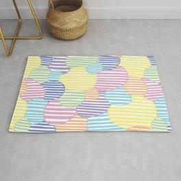 Circled Pastel Lines Rug
