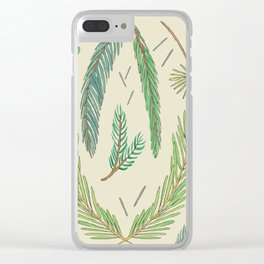Pine Bough Study Clear iPhone Case