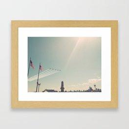 Blue Angel Jets Flying Color Photo Framed Art Print