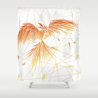 phoenix Shower Curtains featuring Phoenix by ARCHIGRAF