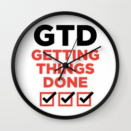 GTD : GETTING THINGS DONE Wall Clock