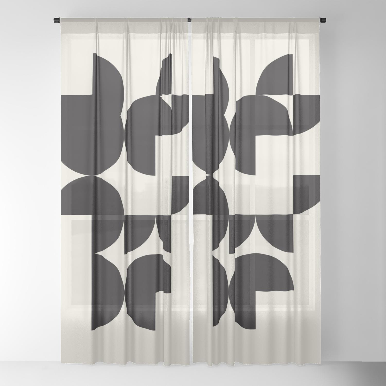 Wall Art Print Apartment Decor Living Room Modern Art Retro Print Wall Art Print Geometric Abstrac Sheer Curtain By Bluepinkpanther Society6