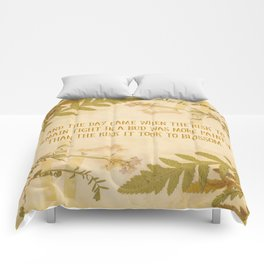 Autumn Anais Nin Quote Comforters