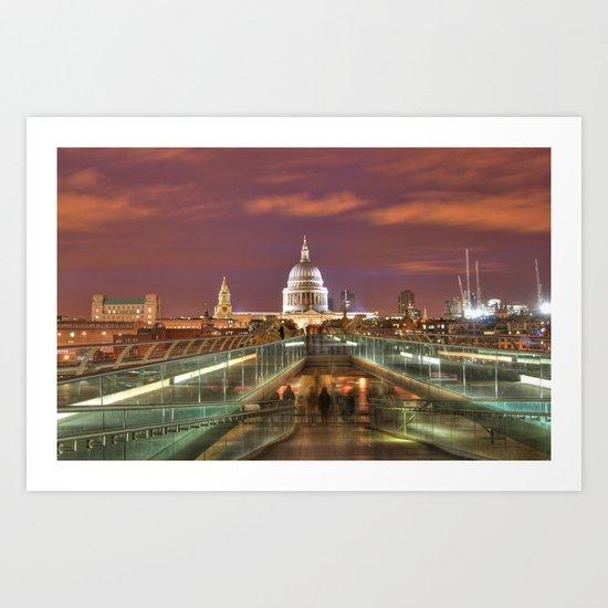 St Pauls From The Bridge Art Print