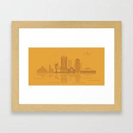 I Love Wichita Framed Art Print