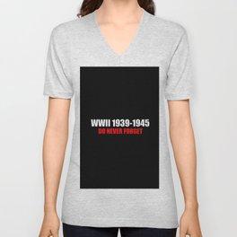 Commemoration WW2 1939-1945 Unisex V-Neck