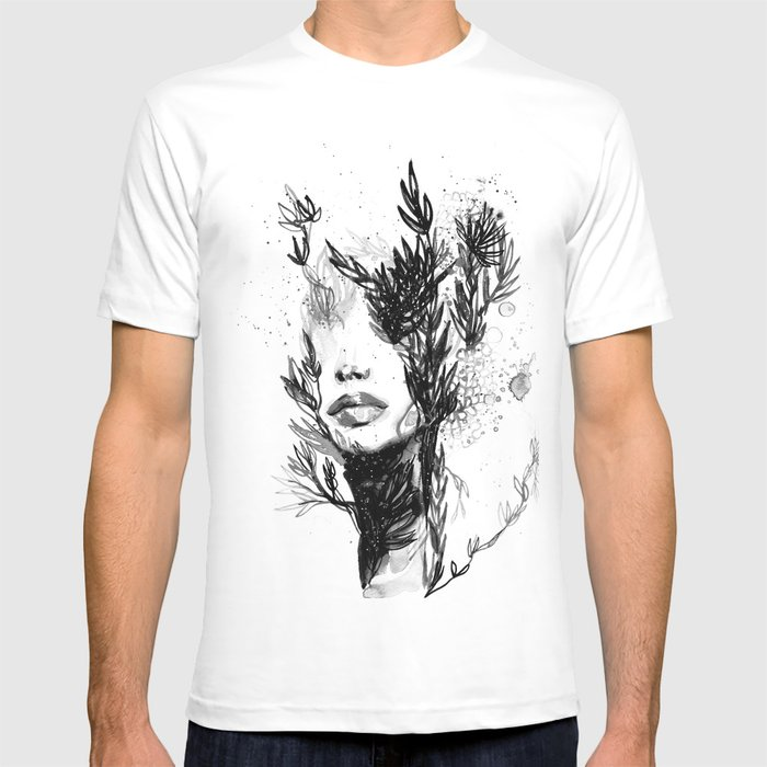 fb72c58e3295 BLACK N WHITE WOMEN ABSTRACT FACE-LOVE T-shirt by missnyka92