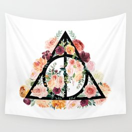 Watercolor Deathly Hallows Wall Tapestry