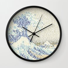 Riders On The Great Wave Wall Clock