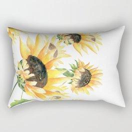 When Sunflowers Say Hello  Rectangular Pillow