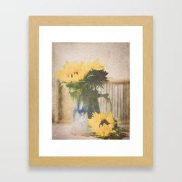 First Sunflowers of Autumn Framed Art Print
