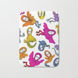 colorful flying witches Bath Mat