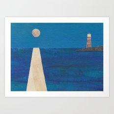 Moon Light House Art Print