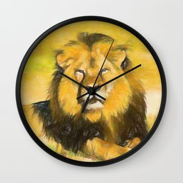 Magnificent Lion Wall Clock