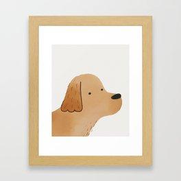 Golden Retriever Watercolor Illustration Framed Art Print