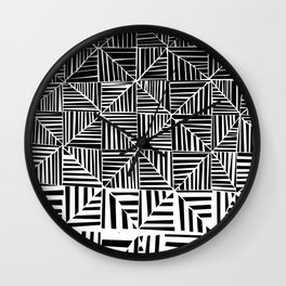 Black & White Pattern Wall Clock
