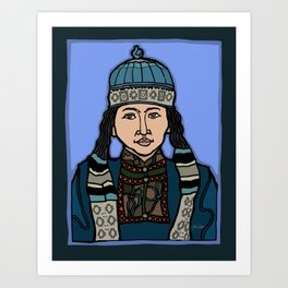 Mongolian Girl Art Print