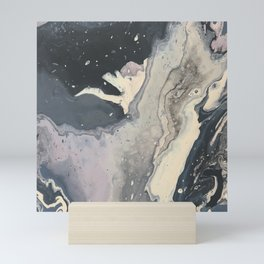 northern sea foam Mini Art Print