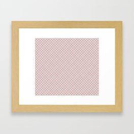 Pink -  gray and white checkered pattern Framed Art Print