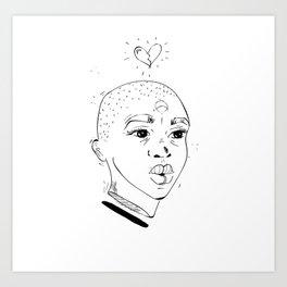 No Love - No Head Art Print