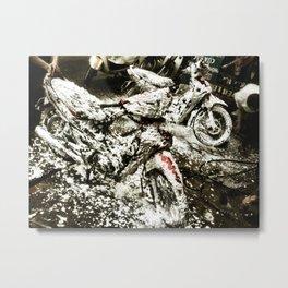 Foamy Motos Metal Print