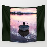 boat Wall Tapestries featuring Boat by Dora Birgis