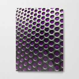 Stainless Steel Circles with Purple Metal Print