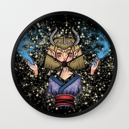 Thunder Demon Girl Wall Clock