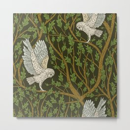 owl twigs trees Metal Print