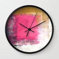 onward Wall Clocks featuring Little spots move onward. by SAMO4PREZ