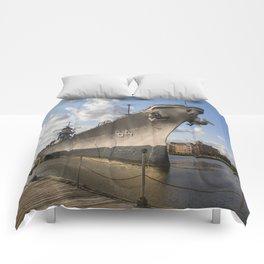 USS Wisconsin Comforters