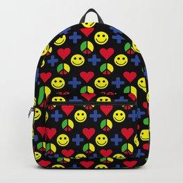 Positivity Peace Joy Happiness BLACK LG Backpack