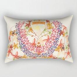 Plumeria Lei Shirt Rectangular Pillow
