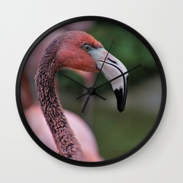Pink Flamingos Portrait Wall Clock